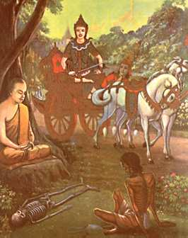 four sights that drove siddhartha in An account of how prince siddhartha left the comfort and safety of his father's palace and saw 'four sights' that were to the story of prince siddhartha (no.